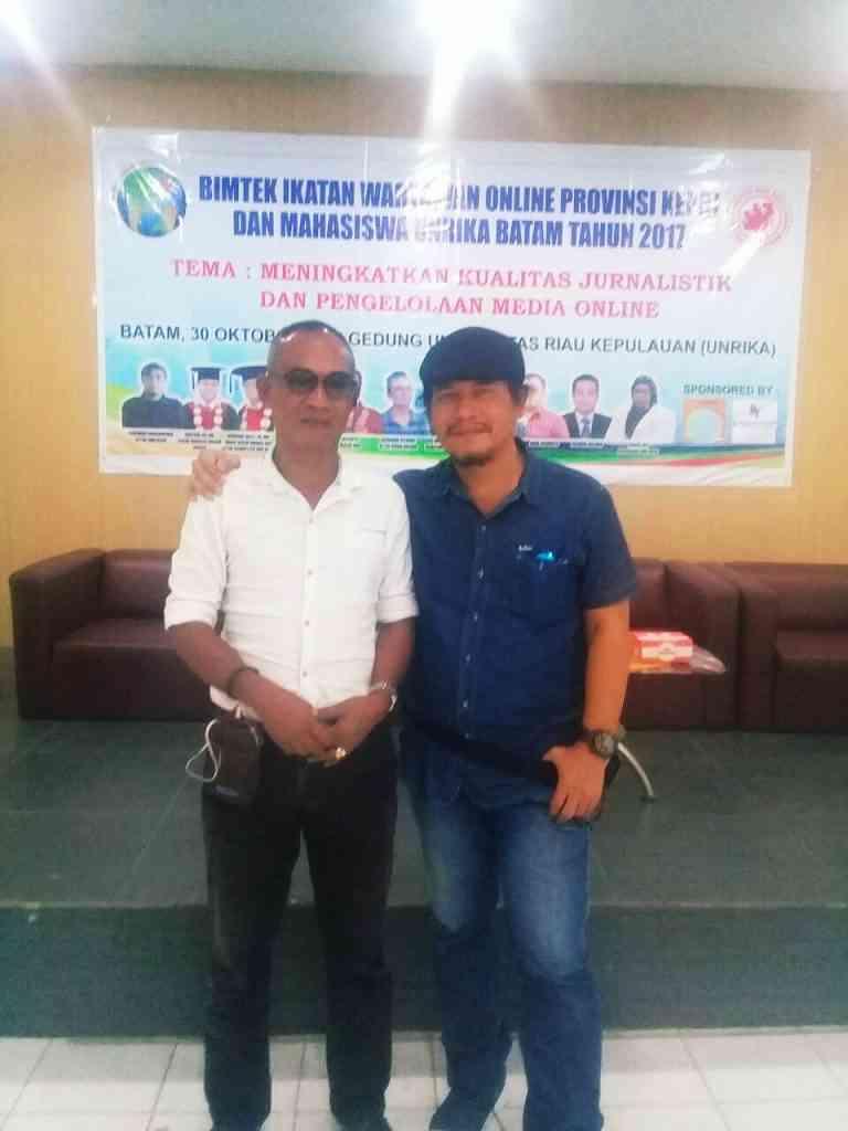 Foto : (kiri :Ketua IWO Lingga, kanan : ketua IWO Pusat)